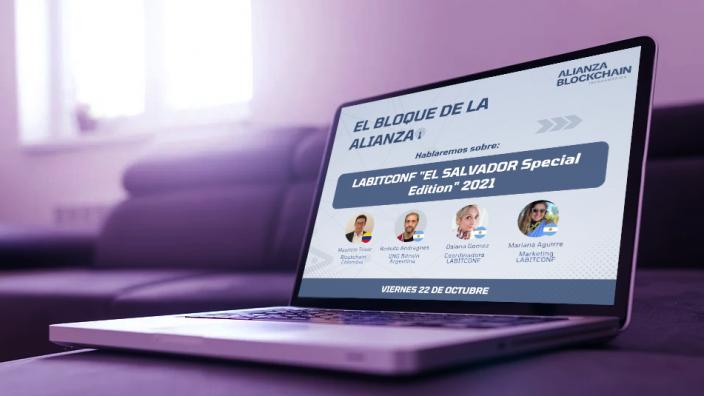 """Block Aliança te invita a su streaming gratuito en LABITCONF """"Edición especial EL SALVADOR"""" 2021/Titulares de Noticias de Criptomonedas"""