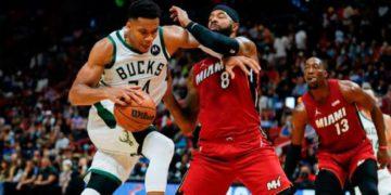 Paliza de Miami Heat a Milwaukee Bucks, los campeones de la NBA