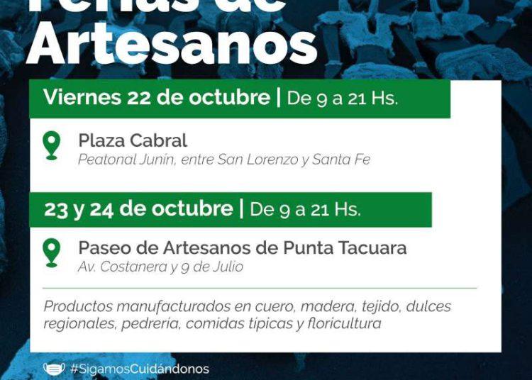 Los artesanos exhibirán sus productos en Plaza Cabral y Punta Tacuara – Corrientes Noticia/ Titulares de Corrientes