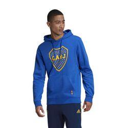 Buzo Con Capucha Estampado Boca Juniors  Adidas